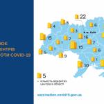 В УКРАЇНІ ПРАЦЮЄ БЛИЗЬКО 200 ЦЕНТРІВ ВАКЦИНАЦІЇ ПРОТИ COVID-19